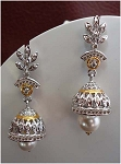 Antique Drop Earrings 2.4 Ct Uncut Natural Certified Diamond 925 Sterling Silver Workwear