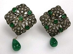 Victorian Earrings 1.6 Ct Uncut Natural Certified Diamond 925 Sterling Silver Special Occasion