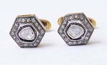 Victorian Drop Earrings 1.2 Ct Uncut Natural Certified Diamond 925 Sterling Silvers Vacation