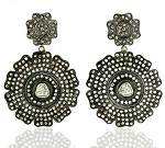 Victorian Earrings 6.15 Ct Uncut Natural Certified Diamond 925 Sterling Silver Festive