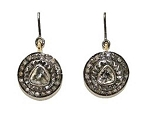 Antique Earrings 0.75 Ct Uncut Natural Certified Diamond 925 Sterling Silver Weekend