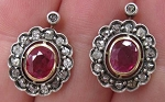 Art Deco Earrings 0.9 Ct Uncut Natural Certified Diamond 925 Sterling Silver Everyday