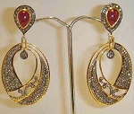 Victorian Drop Earrings 3.65 Ct Uncut Natural Certified Diamond 925 Sterling Silver Engagement