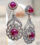Victorian Earrings 2.8 Ct Uncut Natural Certified Diamond 925 Sterling Silver Vacation
