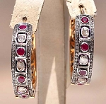 Antique Drop Earrings 2.85 Ct Uncut Natural Certified Diamond 925 Sterling Silver Weekend