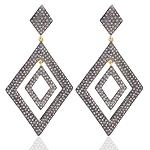 Victorian Earrings 5.8 Ct Uncut Natural Certified Diamond 925 Sterling Silver Everyday