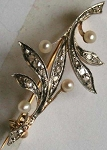 Wedding Brooches 0.6 Ct Uncut Sterling Silver Reproduction Vintage Fine jewelry Natural Certified