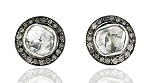 Antique Earrings 1.2 Ct Uncut Natural Certified Diamond 925 Sterling Silver Anniversary