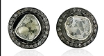 Antique Diamond Earrings 1.1 Ct Uncut Natural Certified Diamond 925 Sterling Silver Engagement
