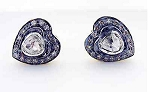 Victorian Drop Earrings 1 Ct Uncut Natural Certified Diamond 925 Sterling Silver Vacation