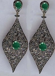 Vintage Drop Earrings 4 Ct Uncut Natural Certified Diamond 925 Sterling Silver Vacation