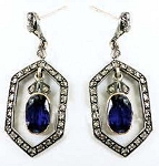 Victorian Earrings 1.25 Ct Uncut Natural Certified Diamond 925 Sterling Silver Workwear