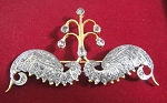 Diamond Brooch 1.5 Ct Uncut Sterling Silver Reproduction Vintage jewelry Natural Certified