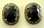 Victorian Drop Earrings 0.75 Ct Uncut Natural Certified Diamond 925 Sterling Silver Party