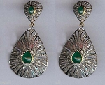 Victorian Diamond Earrings 3 Ct Uncut Natural Certified Diamond 925 Sterling Silver Workwear