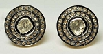 Antique Drop Earrings 1.5 Ct Uncut Natural Certified Diamond 925 Sterling Silver Everyday