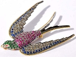 diamond brooch for wedding dress 1 Ct Uncut Sterling Silver pave jewelry Natural Certified