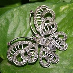 Bridal Brooches 2 Ct Uncut Sterling Silver Vintage & Antique Jewelry Natural Certified
