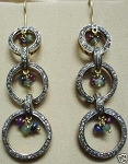 Victorian Drop Earrings 2.7 Ct Uncut Natural Certified Diamond 925 Sterling Silver Everyday