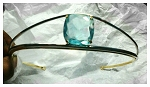 wedding headbands 20.00 Carat Blue Topaz Sterling Silver Victorian Reproduction