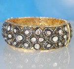 Rose Cut Diamond Bangle 10.55 Ct Uncut Natural Certified Diamond Party