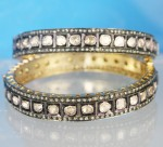 Vintage Diamond Bangle 10.90 Ct Uncut Natural Certified Diamond 14K Gold Vacation