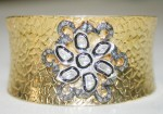 Art Deco Bracelet 1.05 Ct Natural Certified Diamond Festive