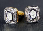 Antique Cufflinks 0.62 Carat Natural Certified Diamond 925 Sterling Silvers Vacation
