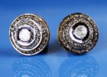 Vintage Diamond Cufflinks 1.03 Ct Uncut Natural Certified Diamond 925 Sterling Silver Men'Ss Office Wear