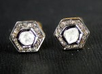 Art Deco Cufflinks 0.93 Ct Uncut Natural Certified Diamond Men'Ss Anniversary