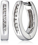 Hoop Earrings 0.70 Ct Diamond Natural Certified Solid Gold Wedding