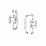 Diamond Hoops 0.45 Ct Diamond Natural Certified Solid Gold Earrings