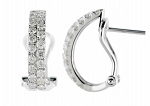 Diamond hoops Earrings 1.00 Ct Natural Certified Solid Natural Certified Solid Gold