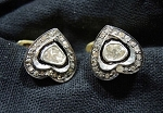Antique Cufflinks 1.05 Ct Uncut Natural Certified Diamond 925 Sterling Silver Festive