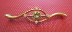 Wedding Brooches 0.20 Ct Peridot Solid Yellow Gold Wedding Fine Jewelry Natural Certified