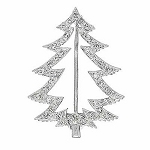 diamond brooch for wedding dress 1.00 Ct Solid White Gold Fine Jewelry Natural Certified