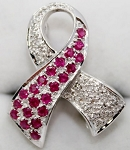 Bridal Brooches 0.70 Ct Ruby solid White Gold Fine Jewelry Natural Certified