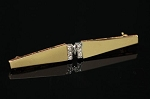 0.12 Ct Natural Diamond solid Yellow Gold Men Tie Pin