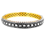 Antique Bangles 7.30 Ct Rose Cut Uncut Natural Certified Diamond 925 Sterling Silver Special Occasion