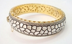 Vintage Diamond Bangle 9.75 Ct Uncut Natural Certified Diamond 925 Sterling Silver Party