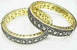 Polki Bangles 8.15 Ct Uncut Natural Certified Diamond 925 Sterling Silver Office Wear