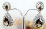 Vintage Diamond Earrings 1.85 Ct Natural Certified Diamond Gemstone 925 Sterling Silver Everyday