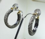 Vintage Drop Earrings 2.50Ct Natural Certified Diamond 925 Sterling Silver Hoops Office Wear