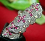 Antique Diamond Wedding Rings 2.85 Ct Diamodnd Ruby Unique Vacation