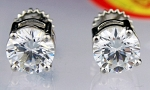 Wedding Diamond Rings 6.00 Ct White Diamond Round Shape Sterling Silver Annivrsary