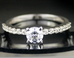 Engagement Ring prices 1.83 Ct Round Shape Diamond Sterling Silver Solitaire Engagement