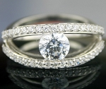 Ring For Sale 2.46 Ct Round Diamond Sterling Silver Solitaire Wedding