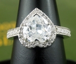 Diamond Ring Designes 5.04 Ct White Heart Shape Diamond Sterling Silver Wedding Solitaire