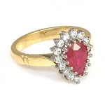 Ruby Ring Design 0.65 Ct Natural Certified Diamond 1.10 Ct Gemstone Solid Yellow Gold Special Occasion