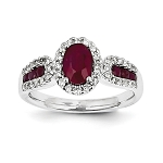 Gemstone Engagement Rings 0.75 Ct Natural Certified Diamond 1.50 Ct Ruby Solid Yellow Gold Weekend